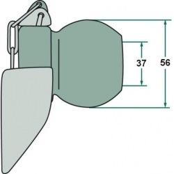 Kula z kołnierzem 2/3 37, 56 mm