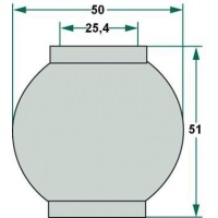 Kula 2/2 do śruby centralnej 25,4, 50, 51 mm