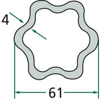 Rura profilowa G8 typ kwiatek fi zew.61mm