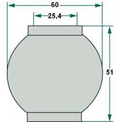 Kula 2/3 do śruby centralnej 25,4 , 60, 51 mm