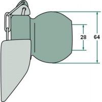 Kula z kołnierzem 3/2 28, 64 mm
