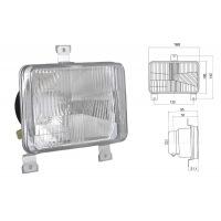 Lampa przednia H4 2F 167x106+uszczelka żar, 3Ł