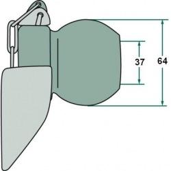 Kula z kołnierzem 3/3 37, 64 mm