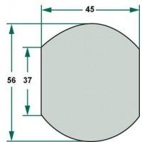 Kula 3/2 na dolny hak 37, 56, 45 mm