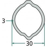 Rura profilowa G2 typ cytryna fi zew.30mm