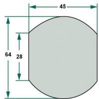 Kula 2/3 na dolny hak 28, 64, 45 mm