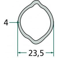 Rura profilowa G1 typ cytryna fi zew.23,5mm