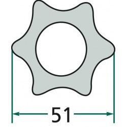 Rura profilowa G7 typ gwiazdka fi zew.51mm