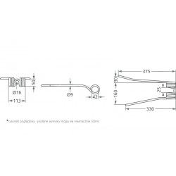 Palec zgrabiarki PZ-111 prawy wygięty