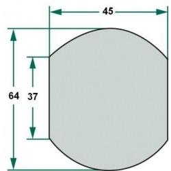 Kula 3/3 na dolny hak 37, 64, 45 mm