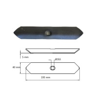 Redliczka prosta 1-otw 40x5x195mm 550122, VRFD
