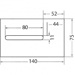 Skrobak Kuhn 75x140x3 mm 52532130, 52532120