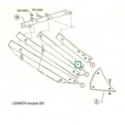 Listwa odkładni BS20 prawa 3444024 Lemken