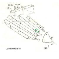 Listwa odkładni BS20 lewa 3444025 Lemken