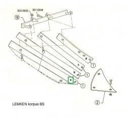Listwa odkładni BS20 prawa 3444044 Lemken