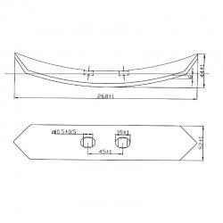 Redliczka 2-otw 52x268x6mm V45122F