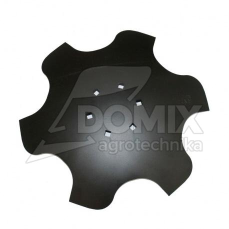 Talerz skrajny lewy 460 Z6 6otw. gr.4 mm 122mm VIS