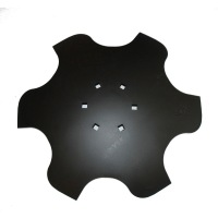 Talerz skrajny prawy 460 Z6 6otw. gr.4 mm