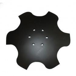 Talerz skrajny prawy 460 Z6 6otw. gr.4 mm 122mm