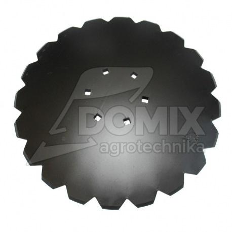 Talerz uzębiony 560mm Z24 6otw. 122 mm TS gr.4mm