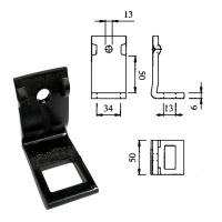 Uchwyt zęba 32x10/12mm na ramę 50x50mm AF662