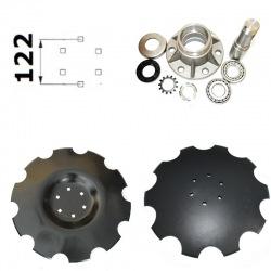 6 otworowe - rozstaw 122mm do piasty obsługowej