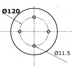 Talerze Amazone rozstaw 120 (XL041 , XL043)