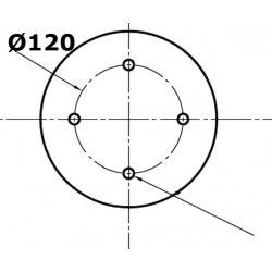 4 otworowe - rozstaw 120mm