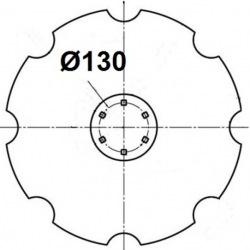 6 otworowe - rozstaw 130mm