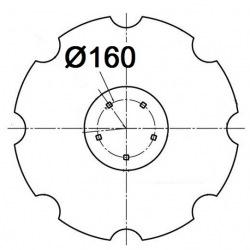 5 otworowe - rozstaw 160mm