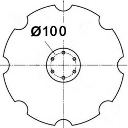 6 otworowe - rozstaw 100mm