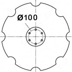 6 otworowe - rozstaw 160mm