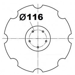 5 otworowe - rozstaw 116mm