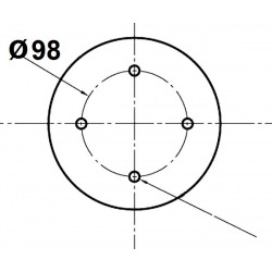 4 otworowe - rozstaw 98mm