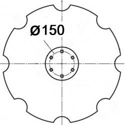 6 otworowe - rozstaw 150mm
