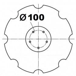 5 otworowe - rozstaw 100mm