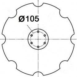 6 otworowe - rozstaw 105mm