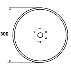 6 otworowe - średnica 300mm