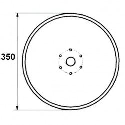 6 otworowe - średnica 350mm
