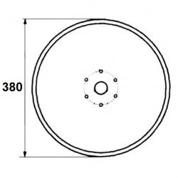 6 otworowe - średnica 380mm