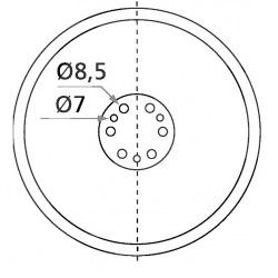 9 otworowe - średnica 307mm