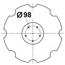 5 otworowe - rozstaw 98mm