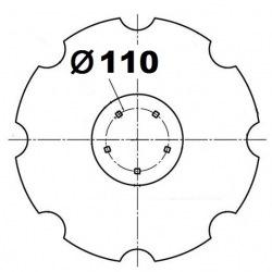 5 otworowe - rozstaw 110mm